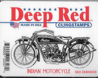 deep red stamps indian motorcycle