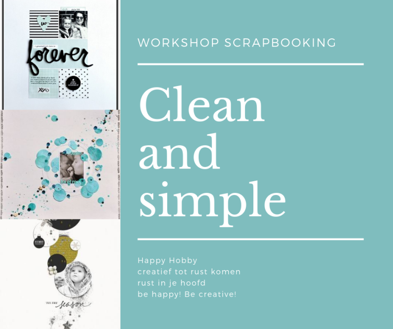 Scrapbooking Layouts: Clean and simple