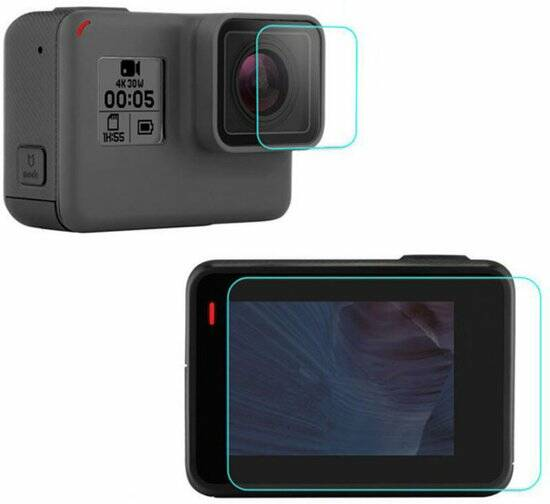 Pro Series 9H Tempered Glass Screen Protector LCD + Lens voor GoPro HERO