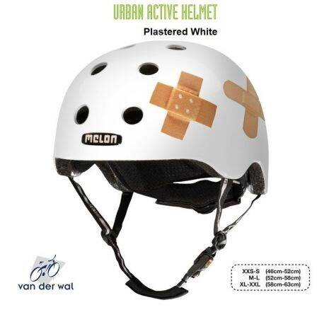 MELON HELM PLASTERED MATT WHITE M-L (52CM - 58CM) 25OG