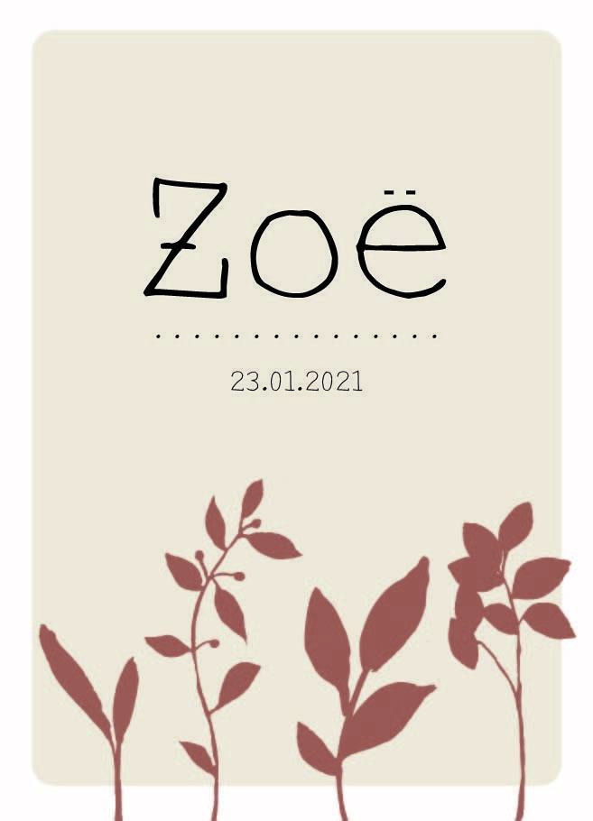 Sample :  Zoë