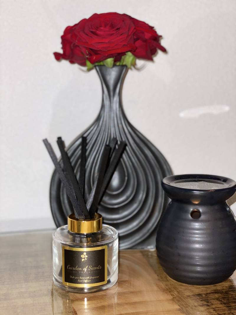 Reed diffuser -Transparant glas rond