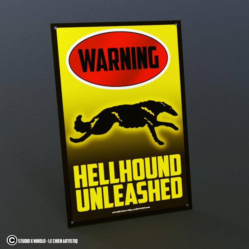 Barzoi coursing ! waakbord HELLHOUND serie