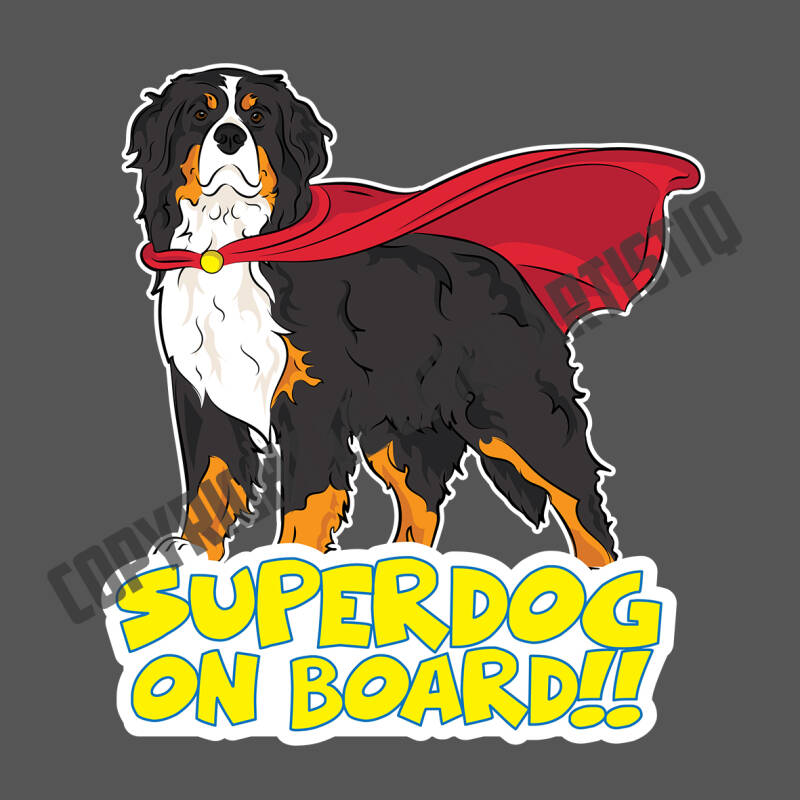 Berner Sennenhond SUPERDOG ON BOARD vinyl sticker!