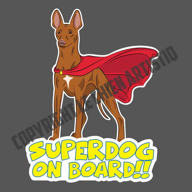 Cirneco Dell Etna SUPERDOG ON BOARD vinyl sticker!