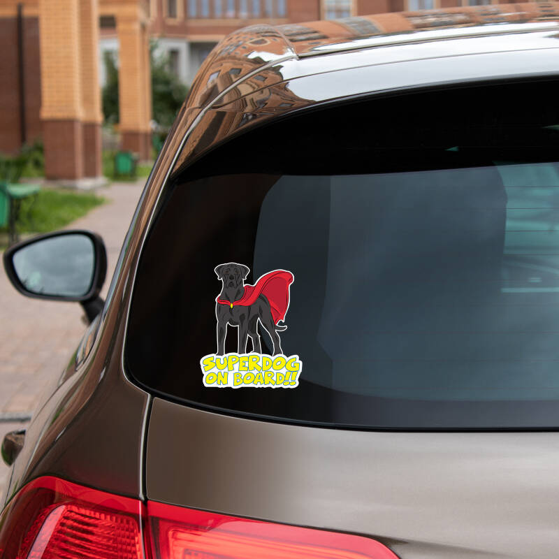 Cane Corso SUPERDOG ON BOARD vinyl sticker! diverse kleurslagen!