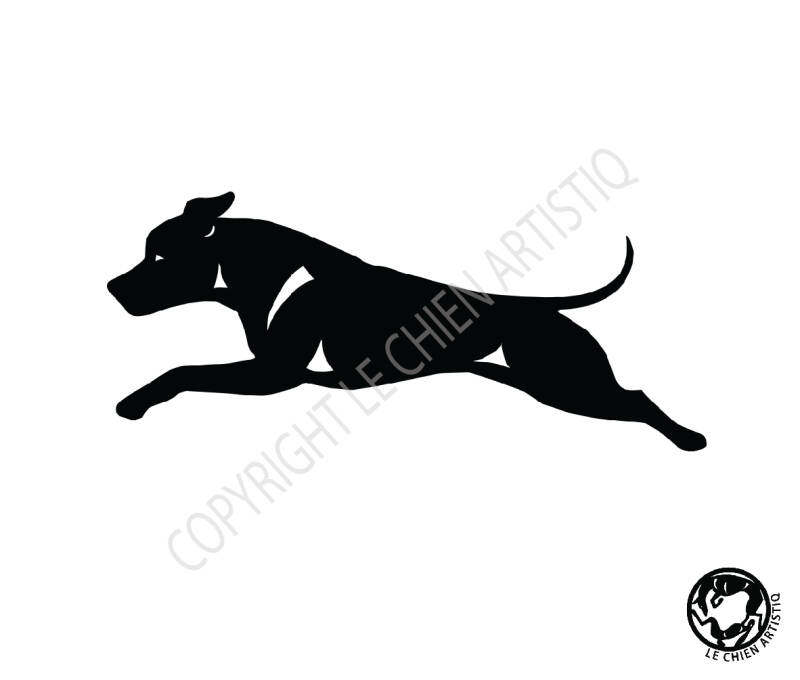 American Staffordshire Terrier ! Stafford vinyl sticker