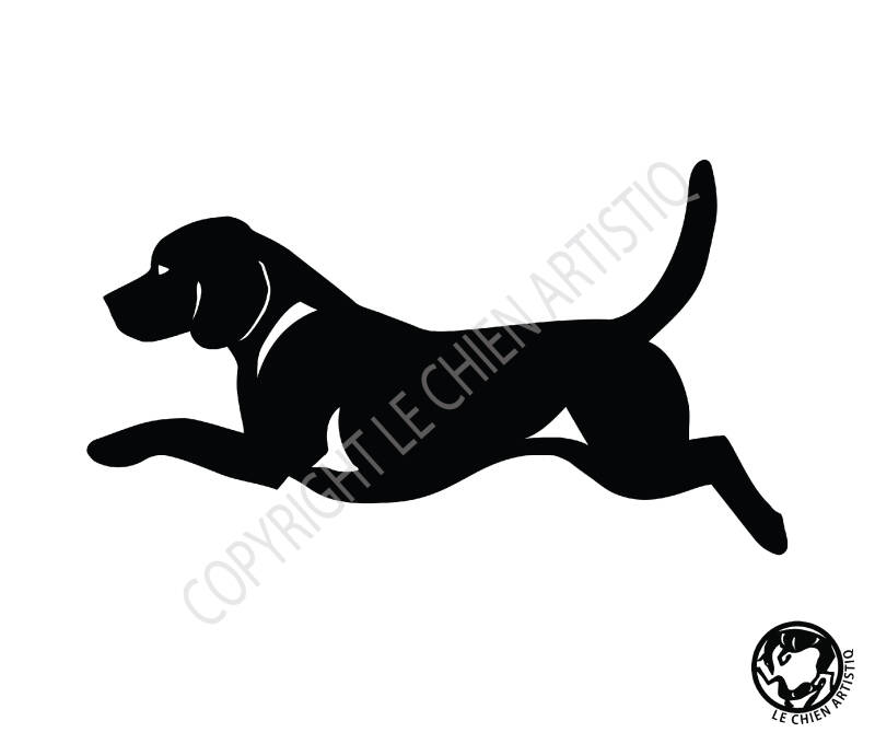 Beagle ! vinyl sticker
