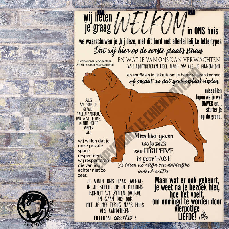 Bordeaux Dog ! WELKOM !