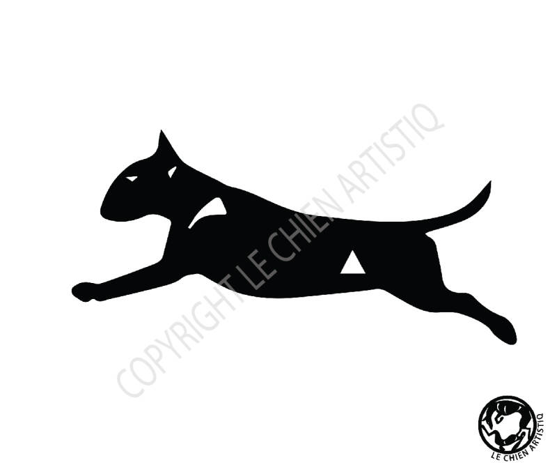 Bull Terrier ! vinyl sticker