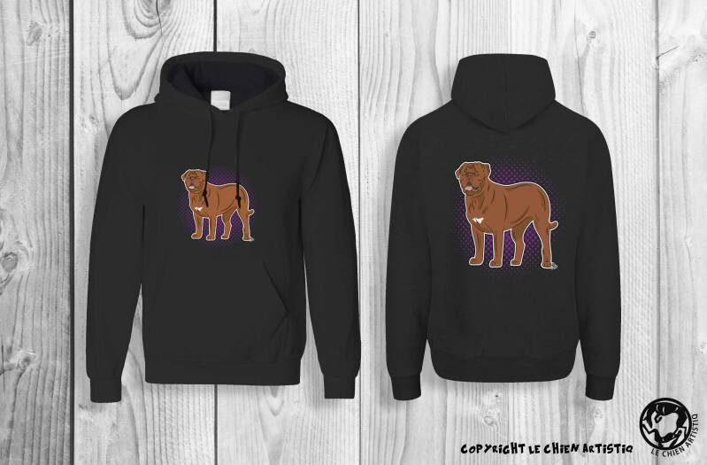 Bordeaux Dog / Dogue Du Bordeaux ! Comic style Hoodie !
