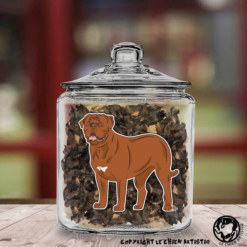 Bordeaux Dog / Dogue Du Bordeaux ! COMIC Glazen Pot met of zonder Supersnacks!