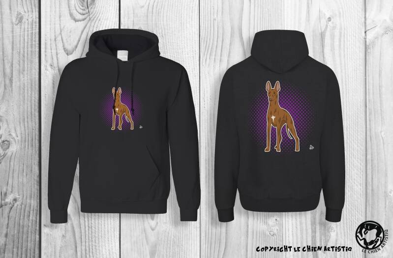 Cirneco Dell'Etna ! COMIC style Hoodie !