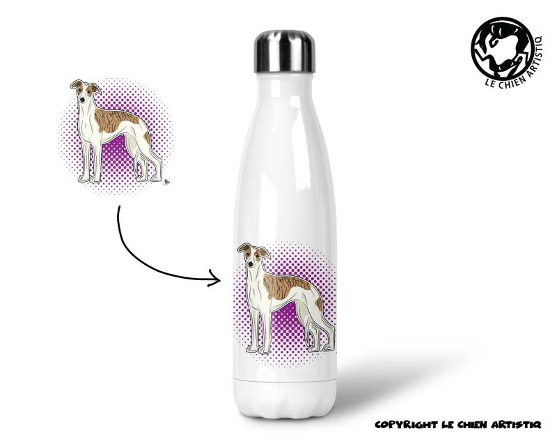 Whippet ! COMIC ! thermosfles 500ml ( naam optie ! )