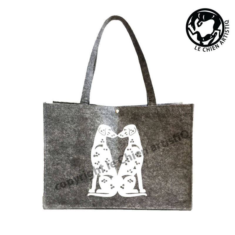 Dalmatiner KISSING ! VILTEN shopper tas !