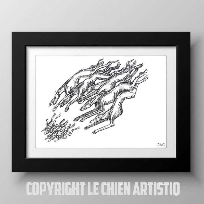 Galgo / Greyhound windhond lure coursing print