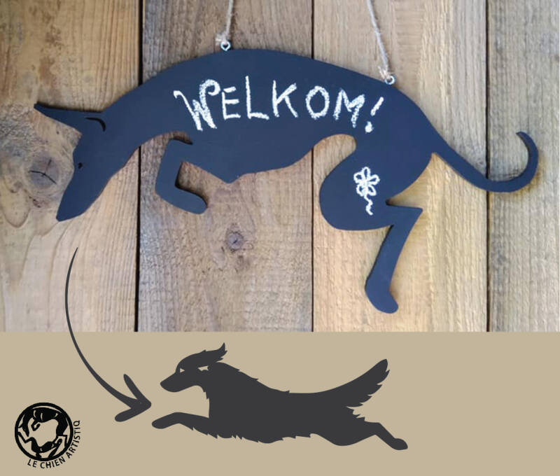 Golden Retriever ! Design Krijtbord!