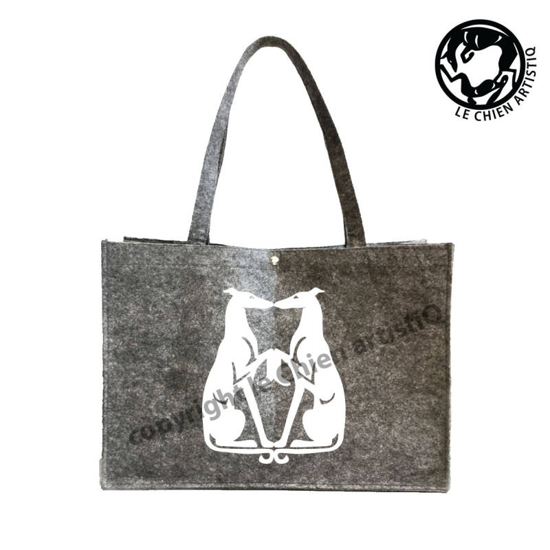 Greyhound KISSING ! VILTEN shopper tas !