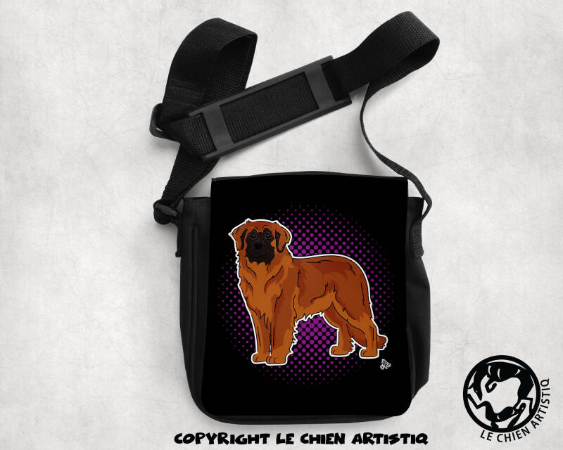 Leonberger ! COMIC style schoudertas !