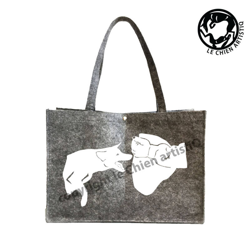 Mechelse Herdershond / Mechelaar / pakwerk ! VILTEN shopper tas !