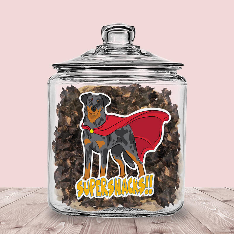 Beauceron Arlequin  ! Supersnacks Glazen Pot met of zonder Supersnacks!