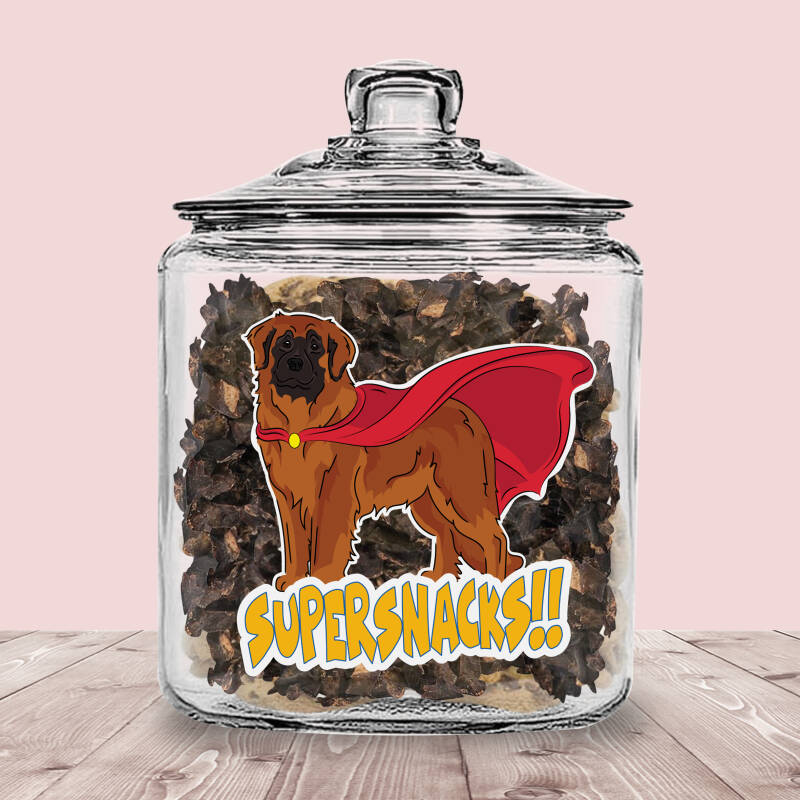 Leonberger ! Supersnacks Glazen Pot met of zonder Supersnacks!