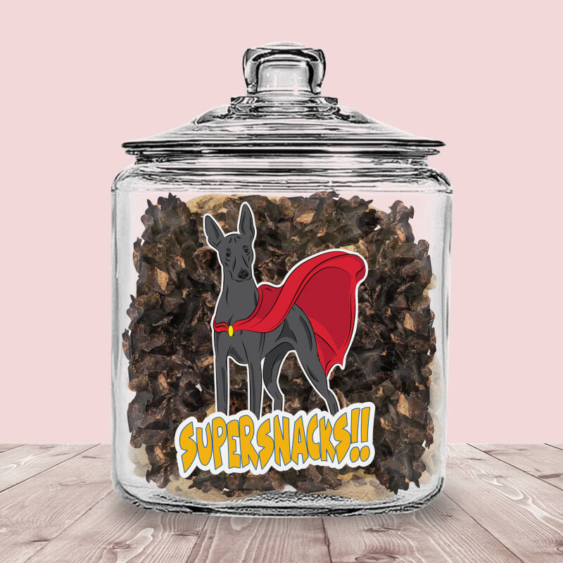 Xoloitzcuintle / Mexicaanse Naakthond ! Supersnacks Glazen Pot met of zonder Supersnacks!