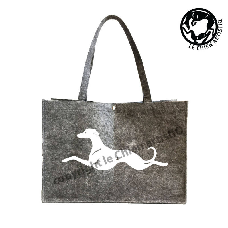 Whippet KISSING ! VILTEN shopper tas !