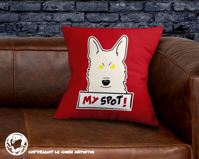 Witte Herdershond ! Angry Dogs kussen !