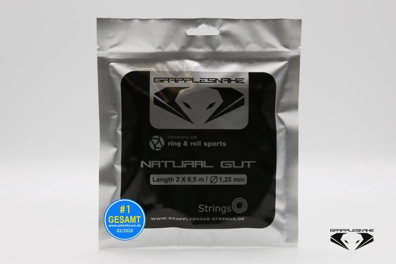 Grapplesnake Natural Gut 1.25 Halve Set (6,5M) Tennissnaar
