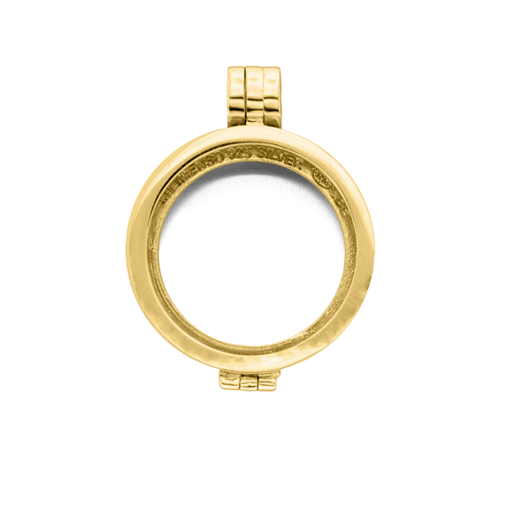 24-0074 Medaillon 24 mm Gold plated/ zilver Kerstactie.