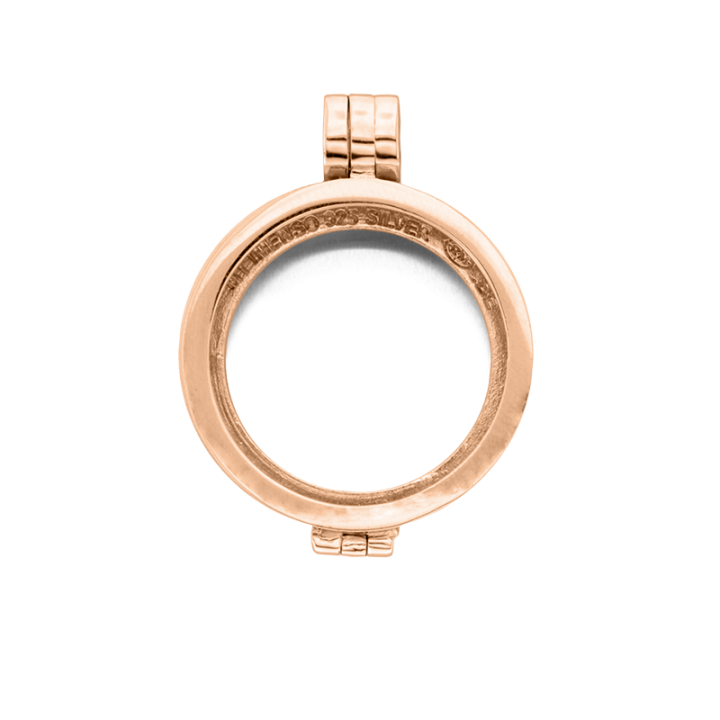 24-0075 Medaillon 24 mm rosé gold plated / zilver Kerstactie.