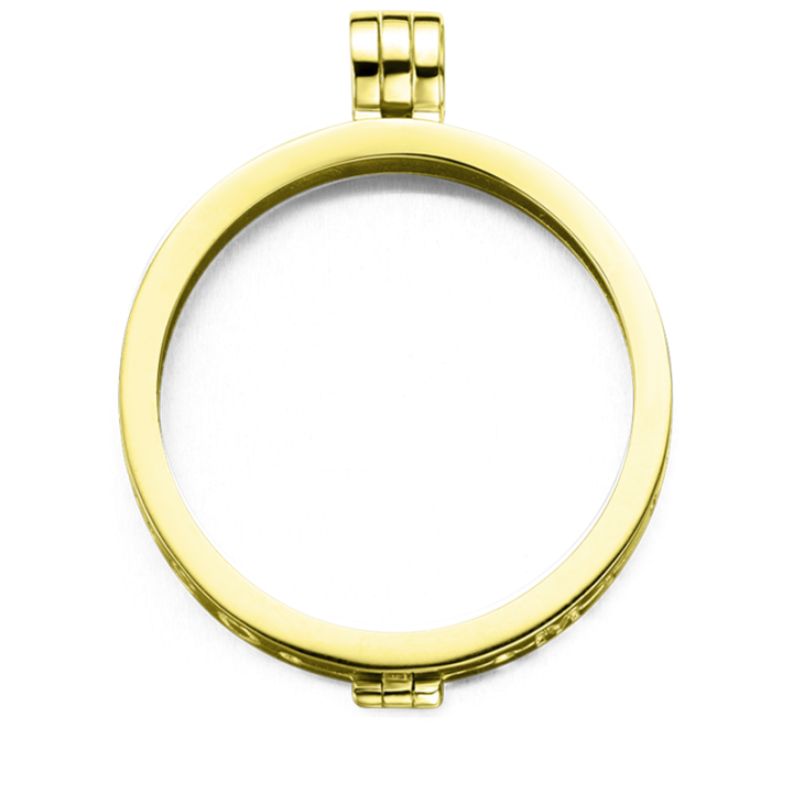 33-0050-1 Medaillon 33mm Gold plated/zilver Kerstactie.