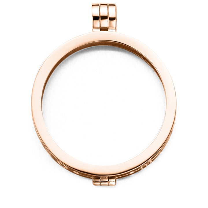 33-0050-2 Medaillon 33 mm Rose gold plated/zilver Kerstactie.