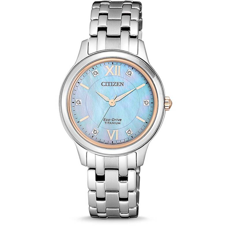 EM0726-89Y Categories: Eco-Drive, Ladies, Super Titanium Caliber E031