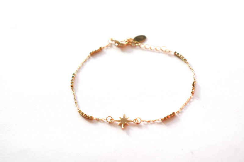 Goud plated armband - ster