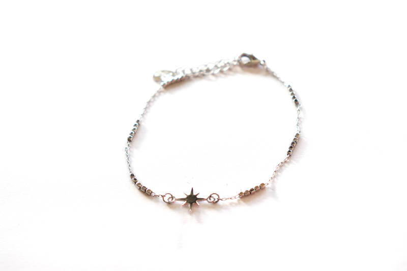 Zilver plated armband - ster