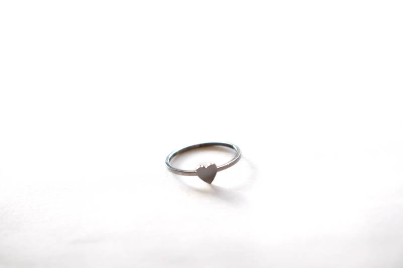 Ring hart Zilver Plated