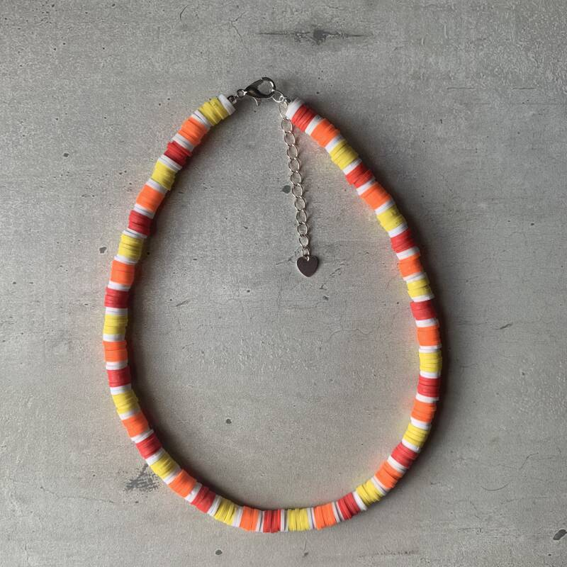 surf ketting 6mm - multicolor geel