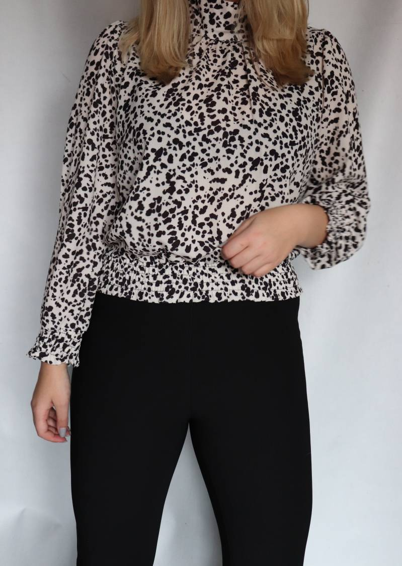 Blouse Dots - Wit