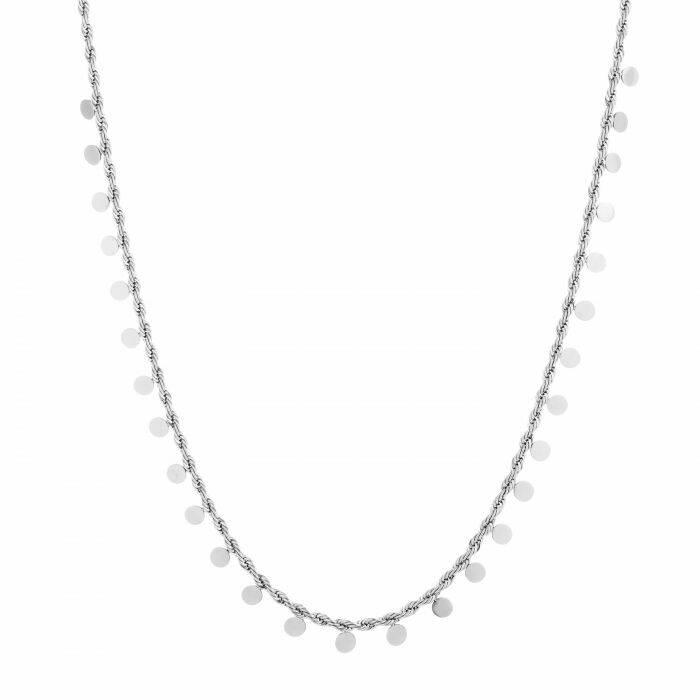 RVS Ketting Chain rond - zilver