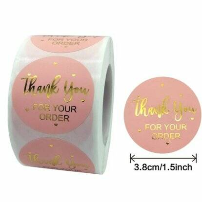 budgetsticker thank you for your order roze