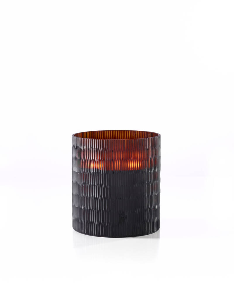 Onno Scented Candle Rhombus Amber, Ginger Fig, small Ø13xH15