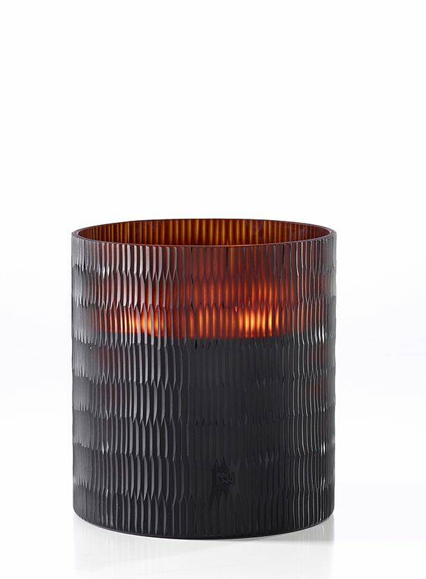 Onno Scented Candle Rhombus Amber, Ginger Fig, medium Ø18xH20