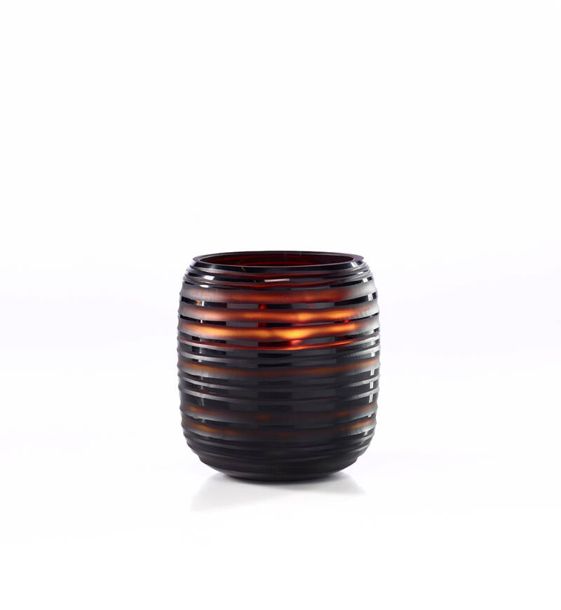 Onno Scented Candle Sphere Amber, Sage, Medium Ø15,50xH17