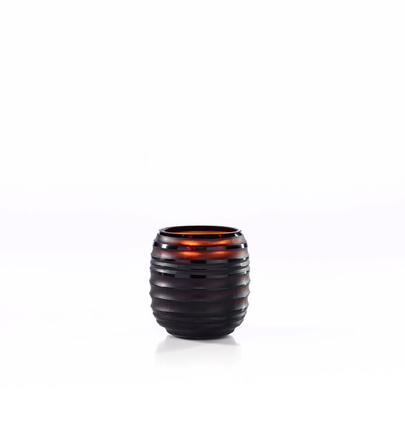 Onno Scented Candle Sphere Amber, Ginger Fig, small Ø13xH15