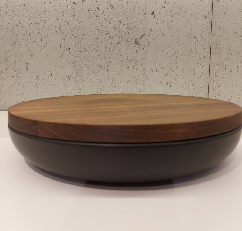 Wow VVD-pottery large black ø30 / walnut lid 3052