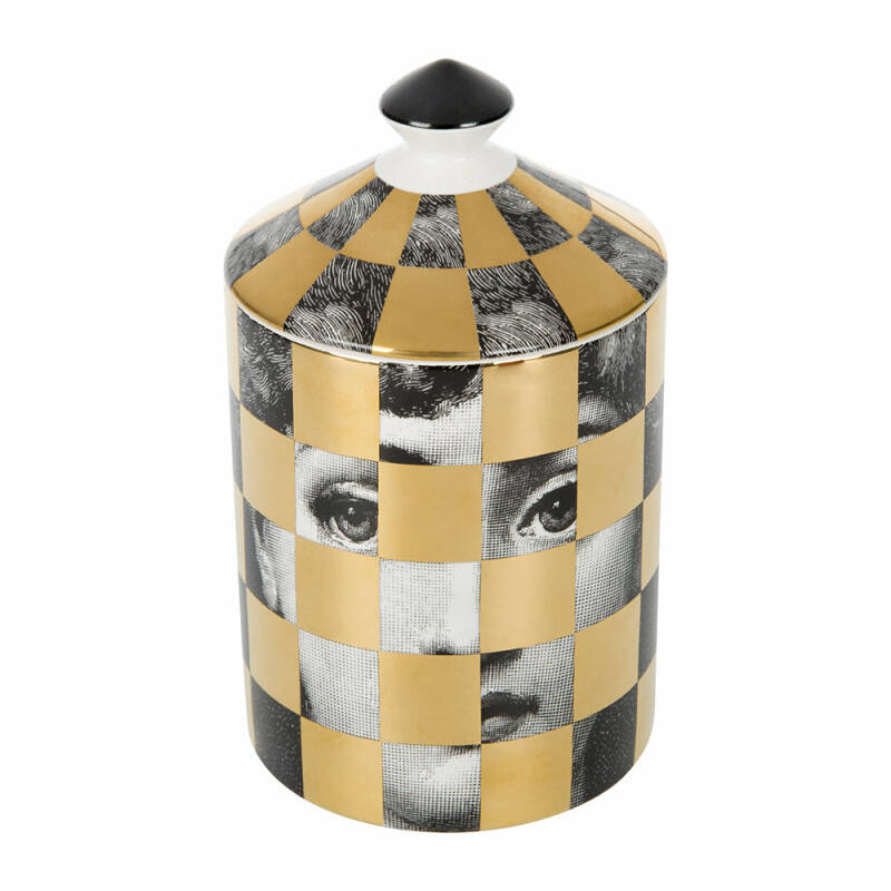 Fornasetti Scented Candle Scacco Golden  - 300g