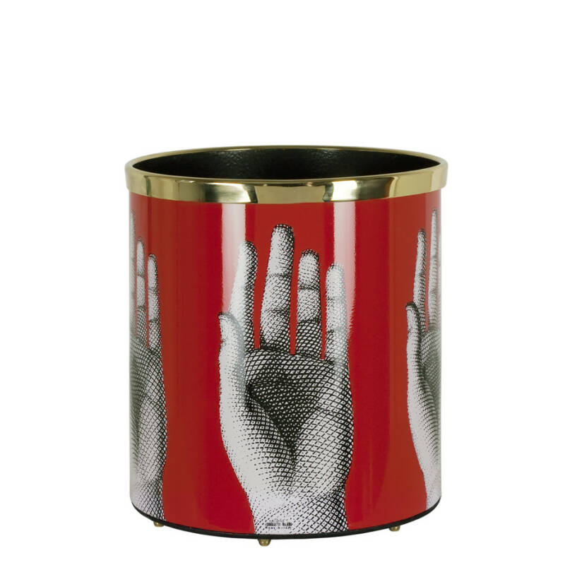 Paper basket Mani black-white-red