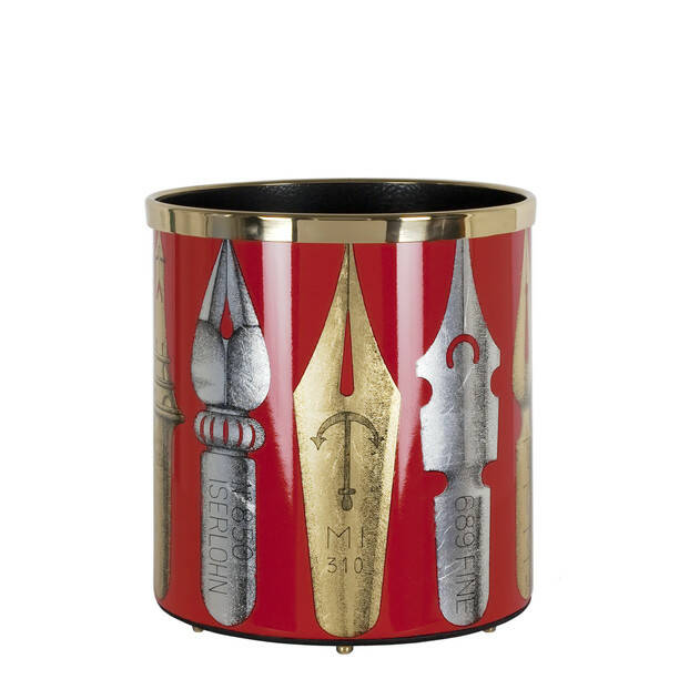 Paper basket Pennini gold-silver-red